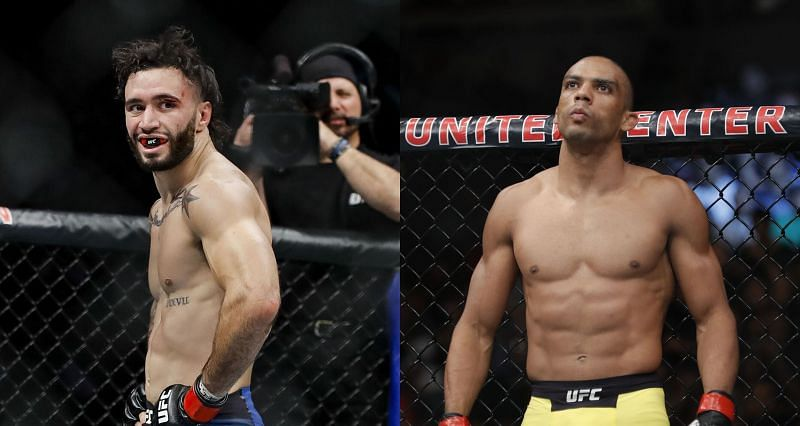Shane Burgos (Left) and Edson Barboza (Right) are set to meet each other at UFC 262 in April 2021.