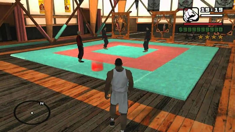 Gyms in GTA San Andreas have different tools that a player could use (Image via fnxrak, YouTube)