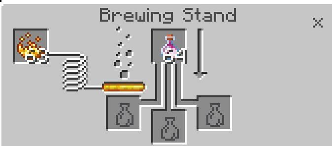 Once you have your needed resource, you need only to go to a brewing station, put in blaze powder to start it up, and then put your bottle of dragon breath in the topmost slot.
