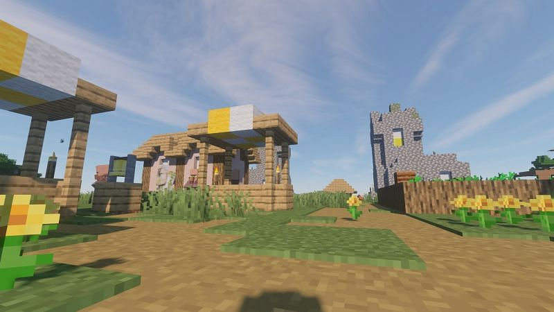 My village used to be great, now its a ghost town... (Image via Minecraft)