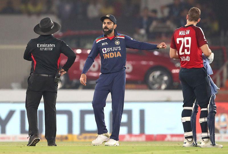 विराट कोहली पांचवे टी20 के दौरान