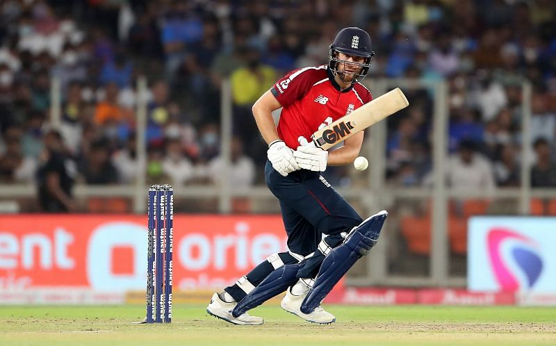 Dawid Malan struggled in the Power Play against India