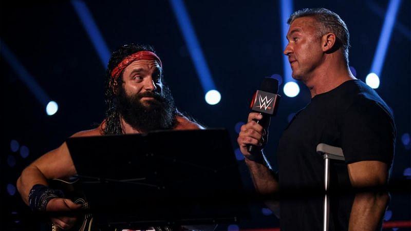 Elias and Shane McMahon on RAW.