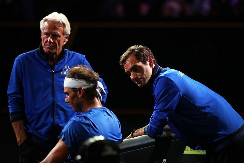 Bjorn Borg, Rafael Nadal & Roger Federer