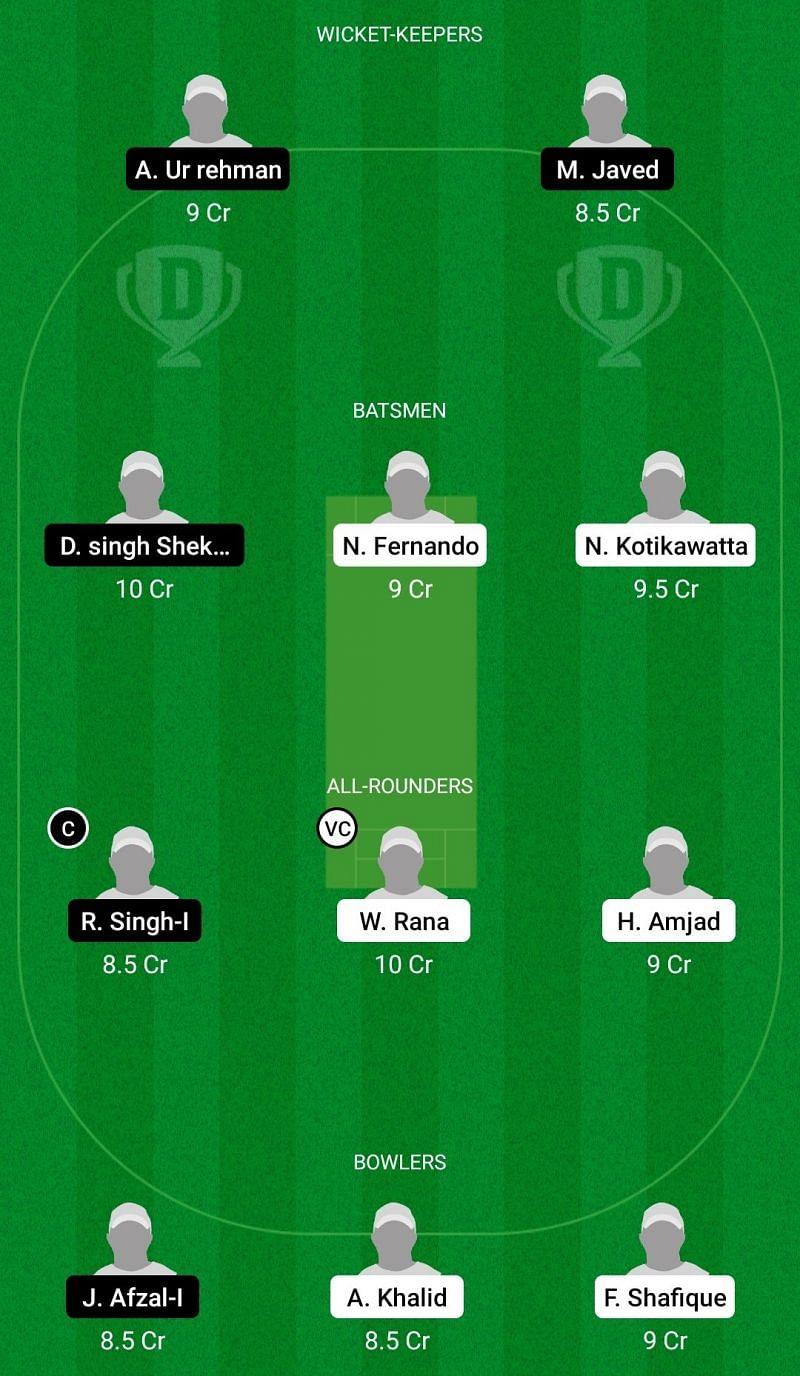 Dream11 Team for Pianoro vs Royal Parma - ECS T10 Bologna 2021.