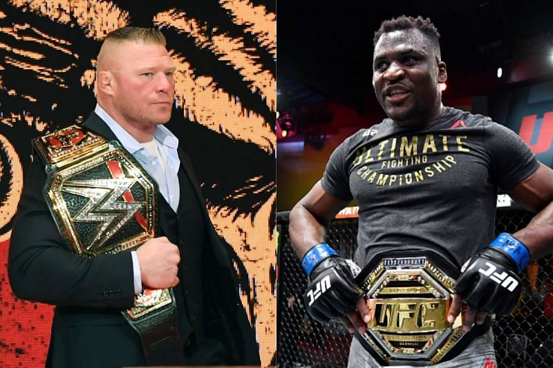 Daniel Cormier compared Francis Ngannou [R] with Brock Lesnar [L]