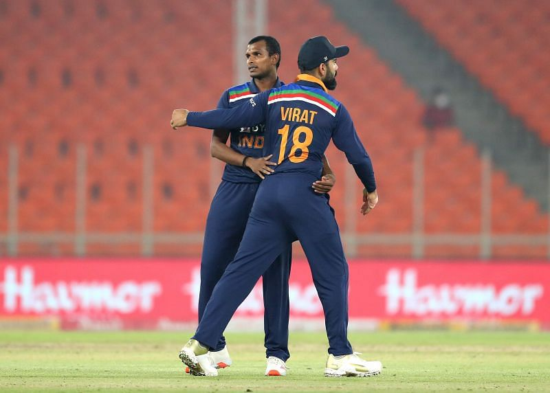Natarajan conceded only six runs in the final over