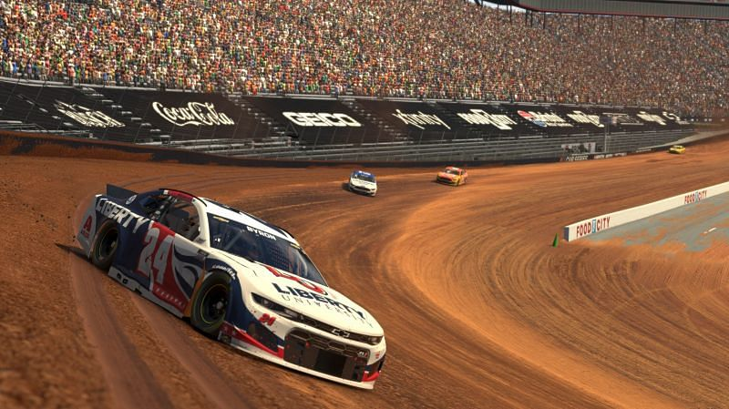 A computer-generated photo from an iRacing event. Photo: Chris Graythen/Getty Images.
