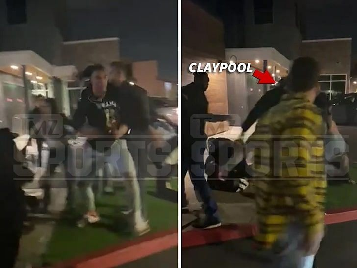 Chase Claypool gets embroiled in a bar fight in California. Credit: TMZ Sports