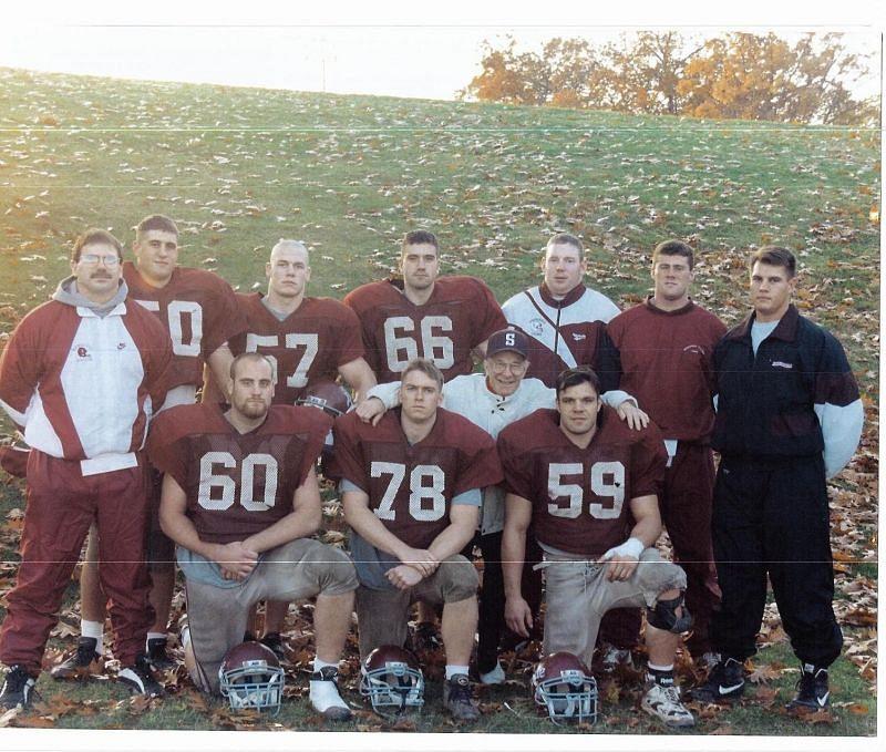 John Cena with his high school football team