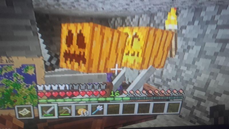 A rare image of two Pumpkin Skeletons in a boat (Image via u/tatyrex08 on Reddit)