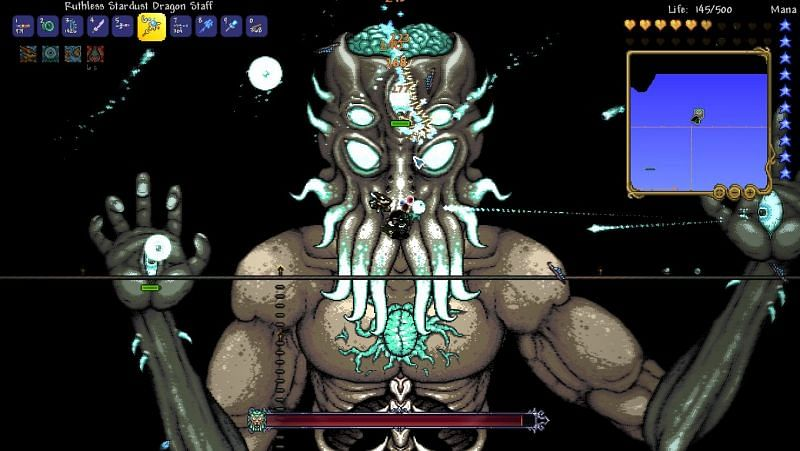 The final boss of Terraria, the Moon Lord.