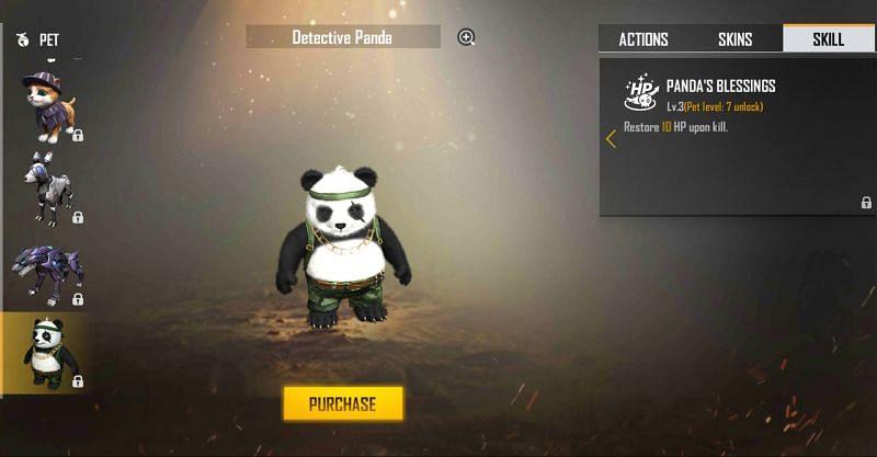Detective Panda pet in Free Fire