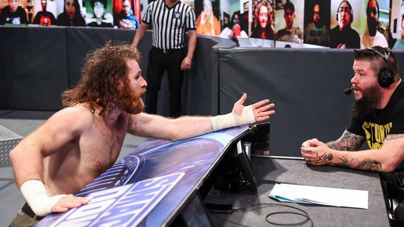 Sami Zayn had an important request for Kevin Owens