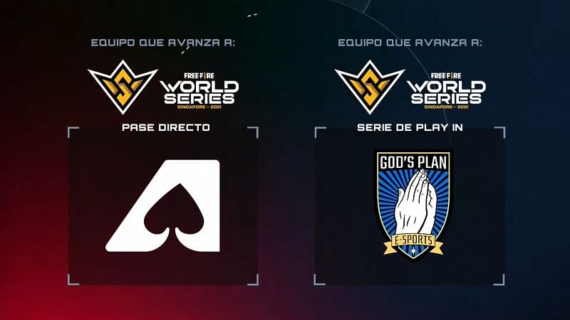 The top two teams qualifed for the Free Fire World Series in Singapore