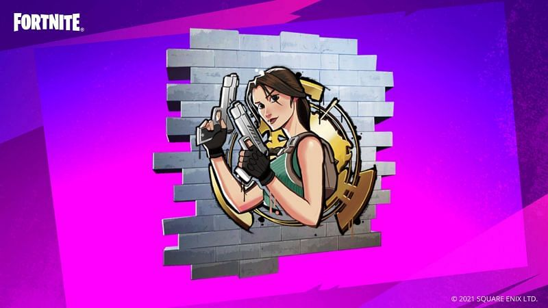 Heir to Croft Manor in-game spray (Image via Square Enix and Epic Games)