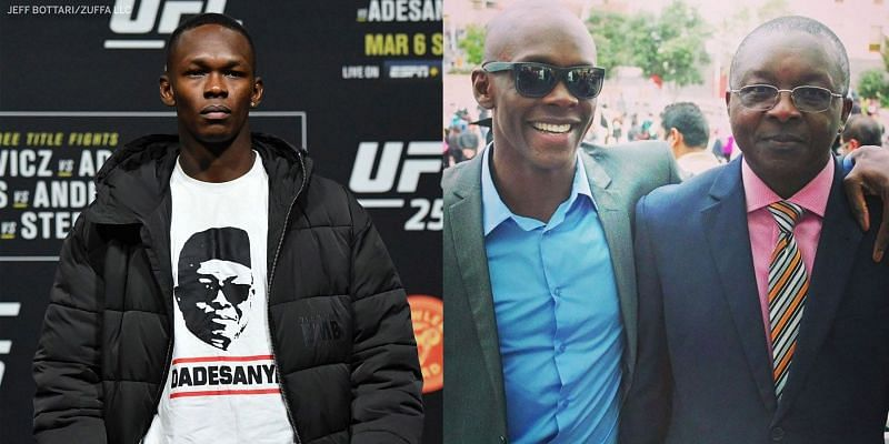 Israel Adesanya and his father Oluwafemi Adesanya