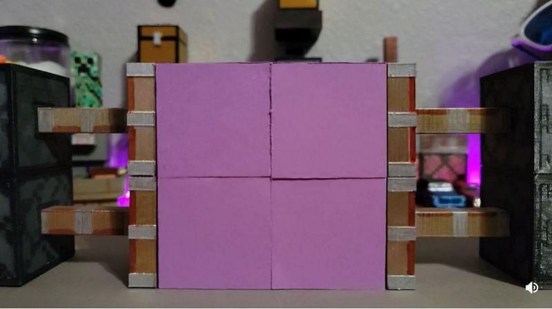 A functioning replica of piston doors from Minecraft. (Image via Hecbac/reddit.com)