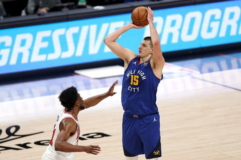 Nikola Jokic #15 of the Denver Nuggets in action