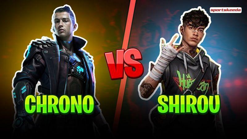 Chrono vs. Shirou in Free Fire Clash Squad mode