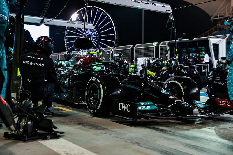 Mercedes have a new sponsor in TeamViewer. Photo by Mark Thompson/Getty Images.