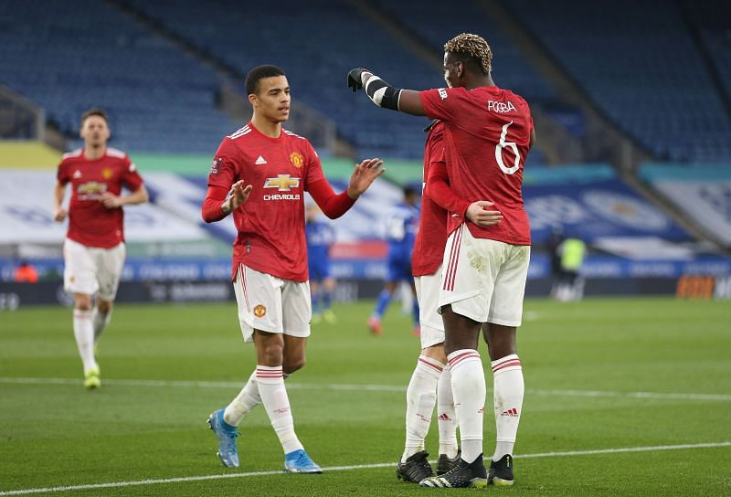 Manchester United in action