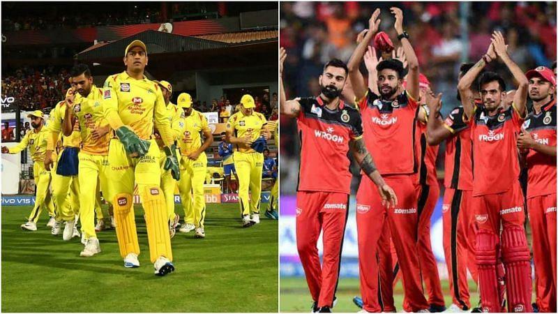 चेन्नई सुपर किंग्स और रॉयल चैलेंजर्स बैंगलोर
