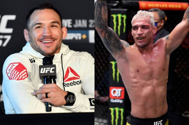 Michael Chandler and Charles Oliveira