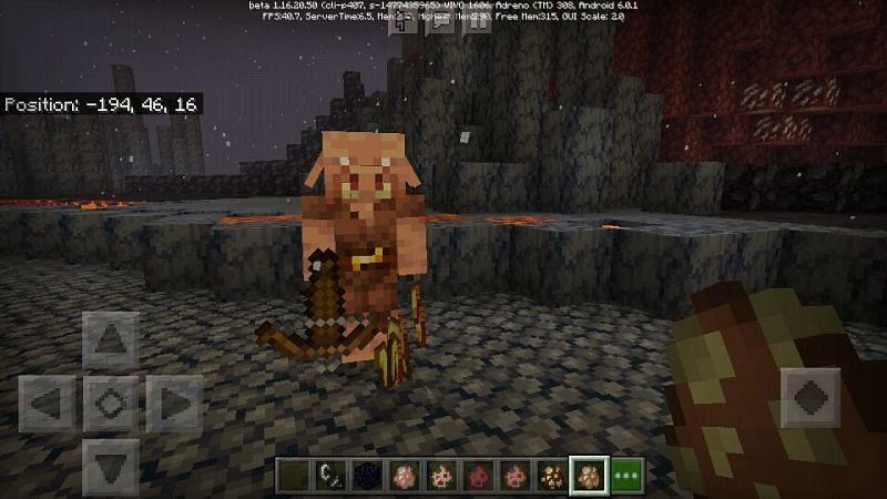 Piglin looking for gold (Image via bugs.mojang.com)