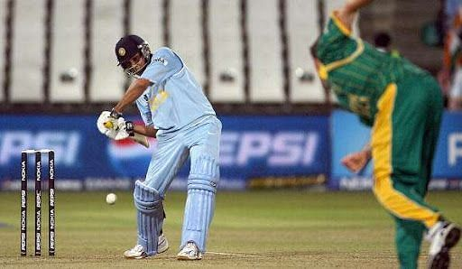 Rohit Sharma hit a fifty in his debut T20I innings at the 2007 World T20