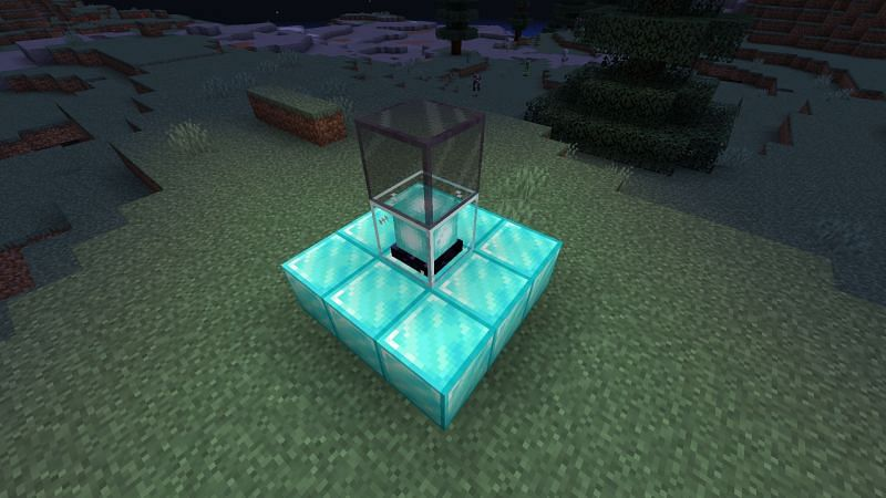 Tinted glass completely blocks light