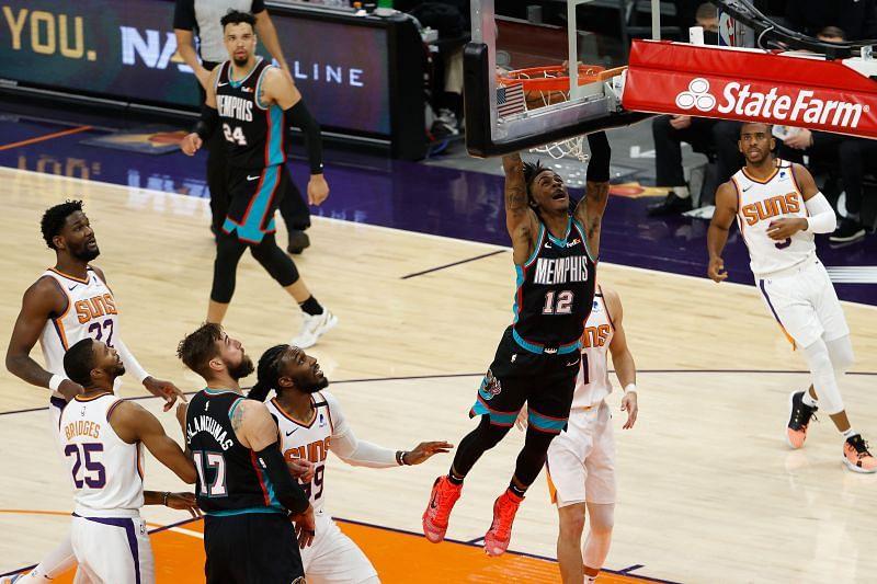 The Memphis Grizzlies in action against the Phoenix Suns