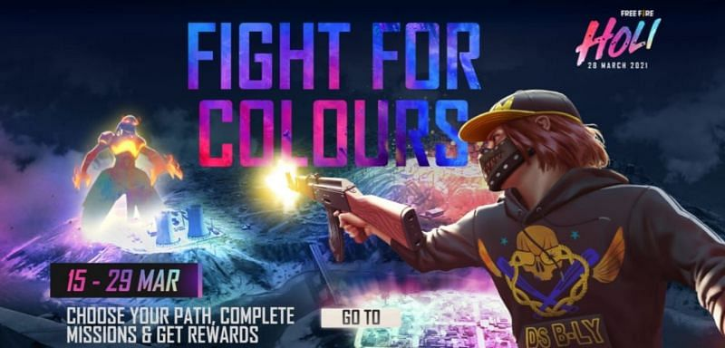 The Restore The Colours Holi event is currently underway in Free Fire