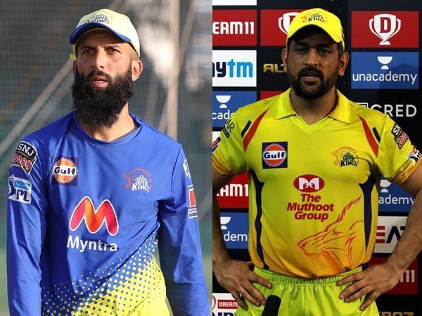 Moeen Ali and MS Dhoni (Image source Times Now)