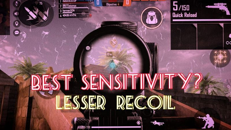 Beginners might not be aware of the concept of lessening the recoil with sensitivity tweaks (Image via Sportskeeda)