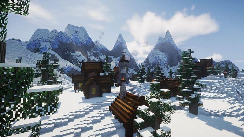 Snowy mountains biome (Image via YouTube)