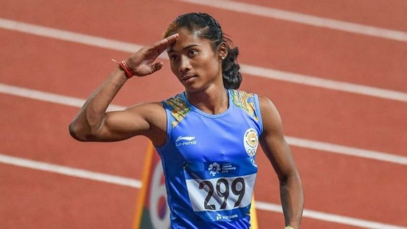 Hima Das faced no competition at the Indian Grand Prix 3