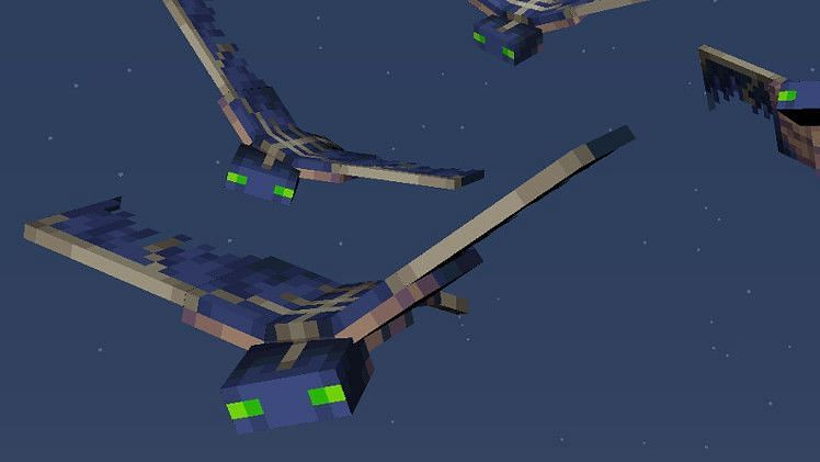 Phantoms diving for their prey! (Image via Mojang)
