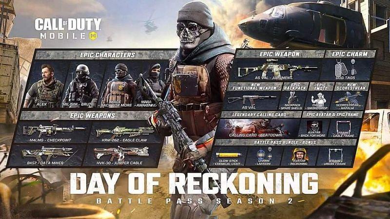 COD Mobile Season 2 Battle Pass [Image Via Activision]