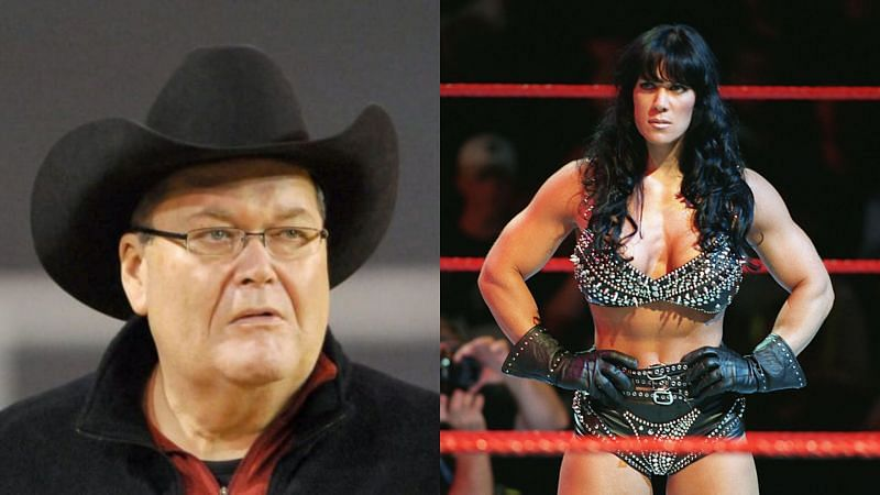 Jim Ross and Chyna.