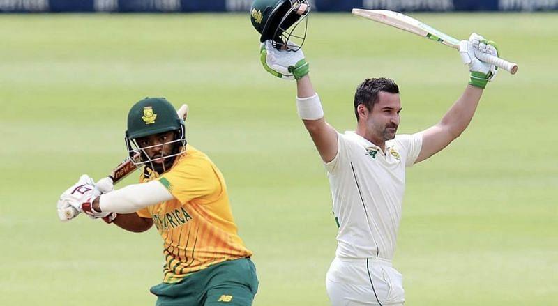 Temba Bavuma (left) and Dean Elgar (right) will lead South Africa