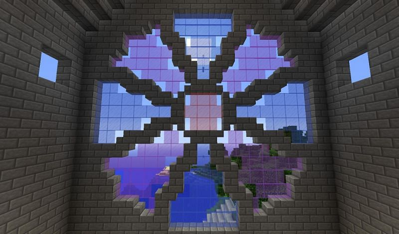 Large glass structure (Image via minecraftore.com)
