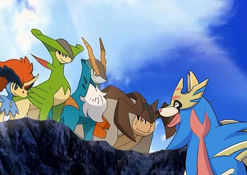 The Swords of Justice are all a dual Fighting-type (Image via The Pokemon Company)