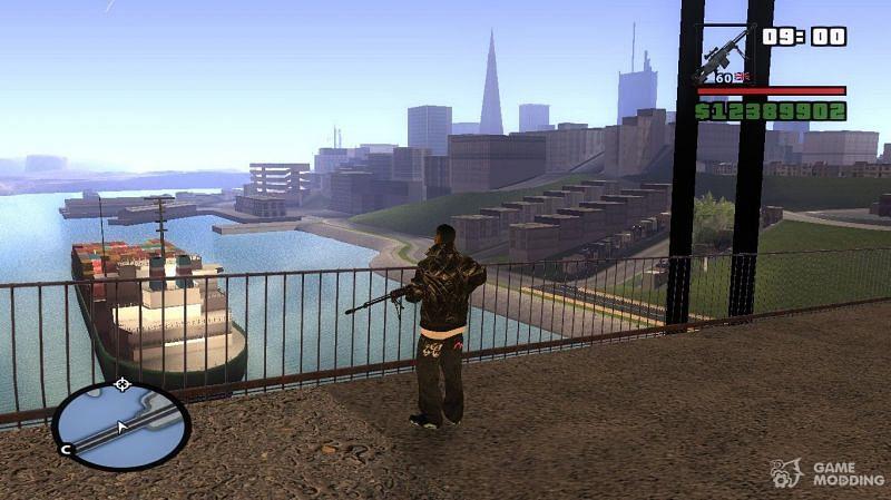 This mod essentially helps GTA San Andreas take full advantage of modern GPUs (Image via GameModding)