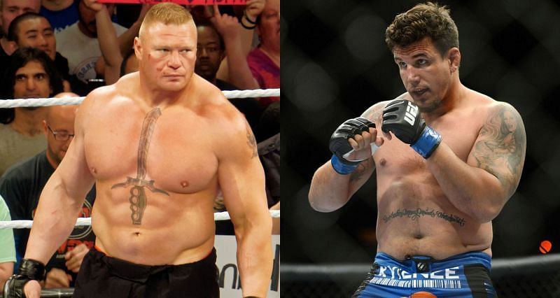 Frank Mir (Right) is open to a rubber match with Brock Lesnar (Left)