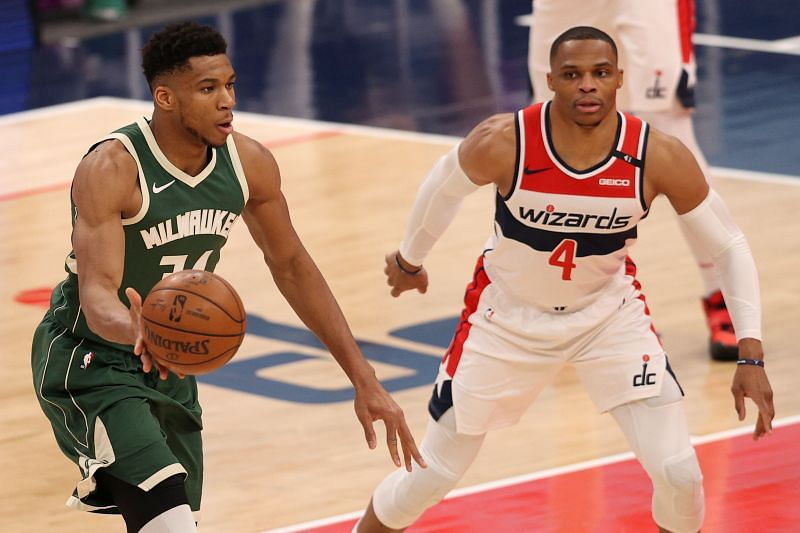 Russell Westbrook #4 of the Washington Wizards.is not known for his shooting prowess.
