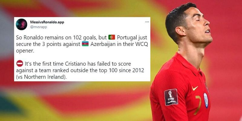 Cristiano Ronaldo failed to get his name on the scoresheet for Portugal