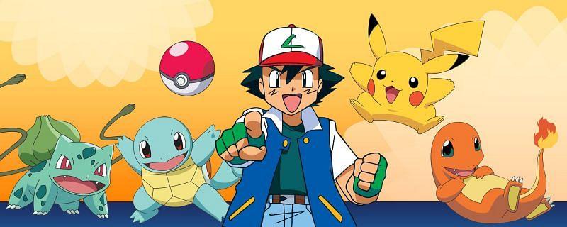 Ash and the Gen I starters (Image via Viz Media)