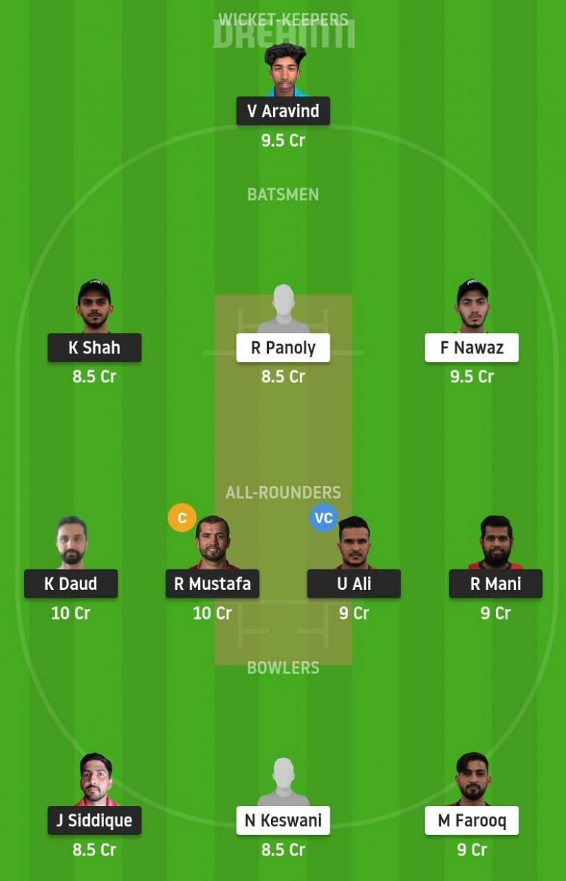 SHA vs DUB Dream11 Fantasy Tips - Emirates D10 League.