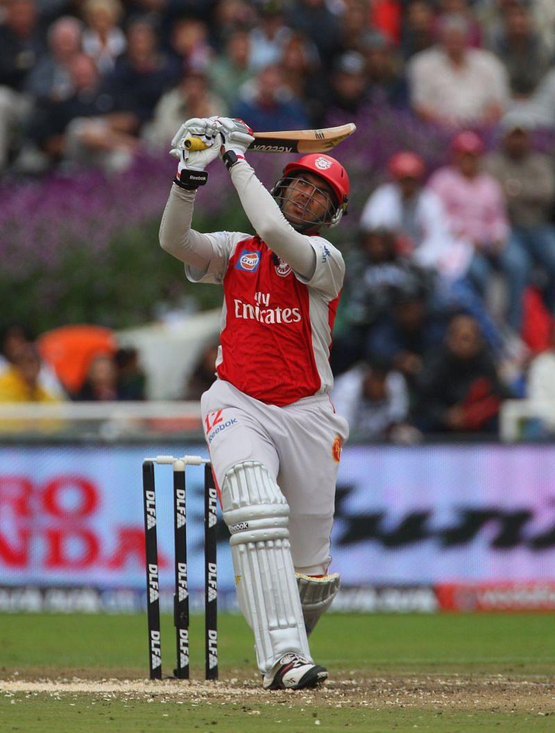 Yuvraj Singh batting for Kings XI Punjab in the 2009 IPL